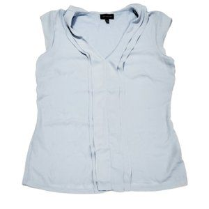 The Limited Baby Blue Pleated Blouse